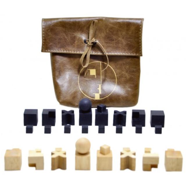Jogo de Peças Xadrez Bauhaus