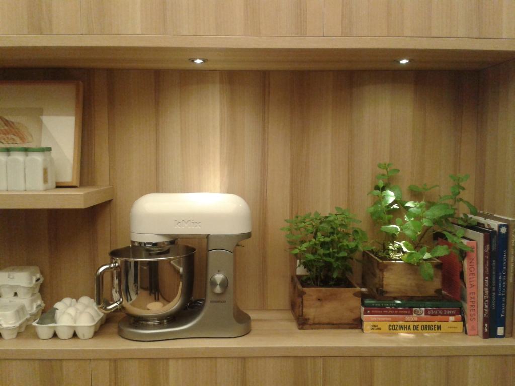 Organização para bancada de cozinha.